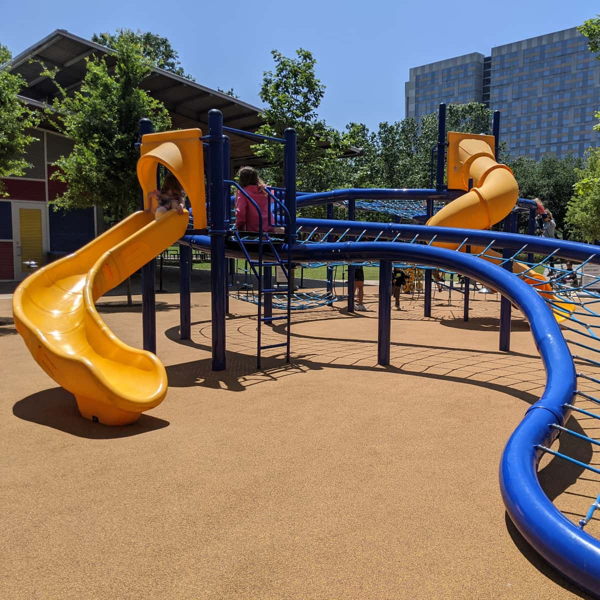 Discovery Green Net Playground