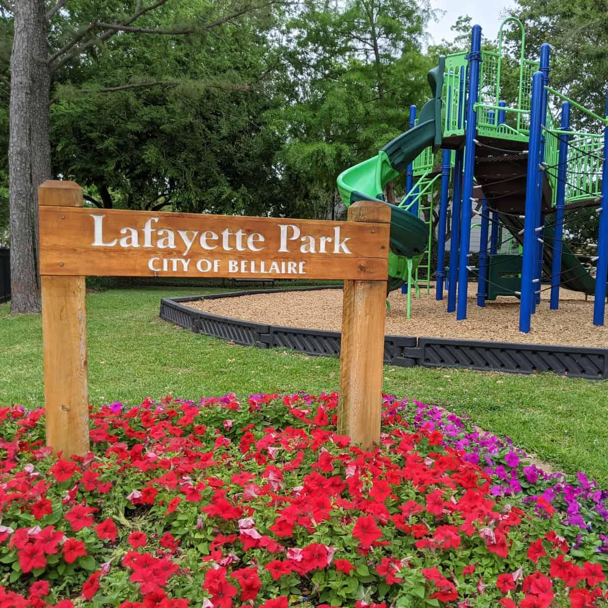 Lafayette Park Sign