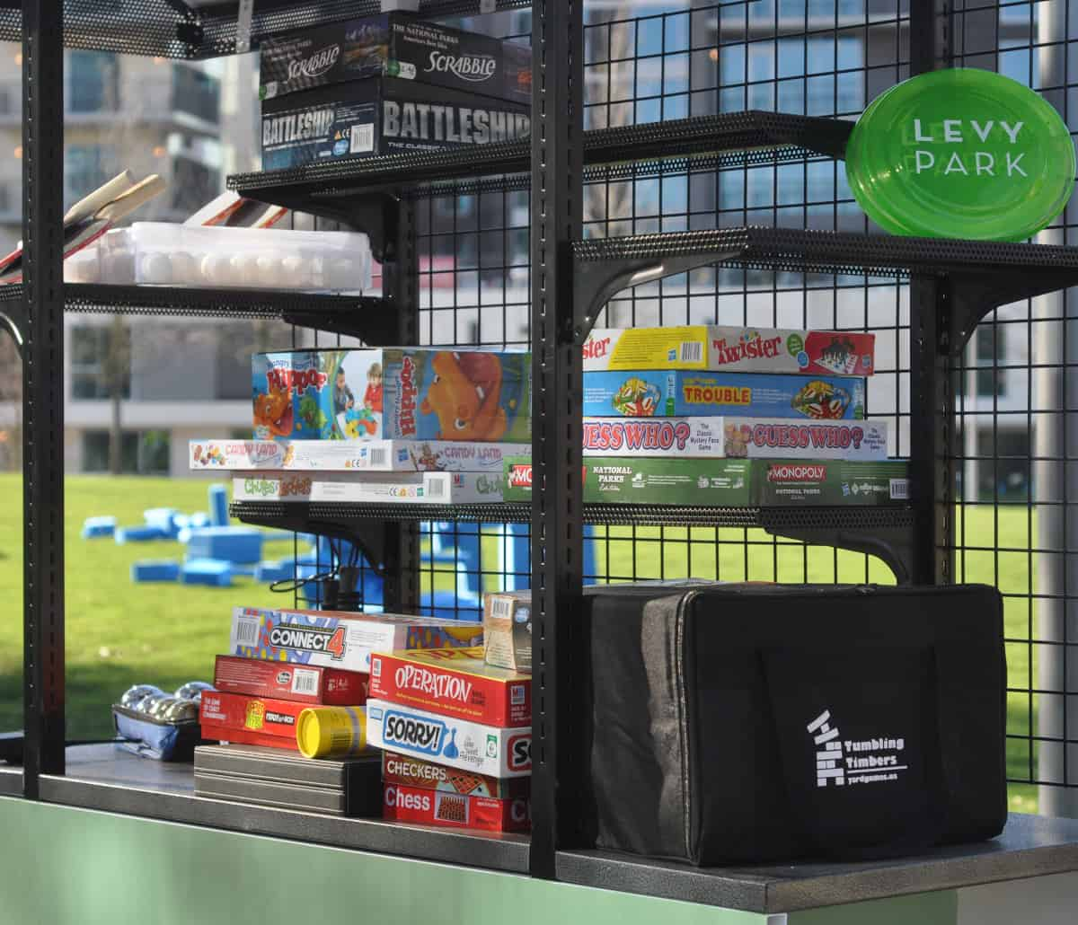 Levy Park Game Cart