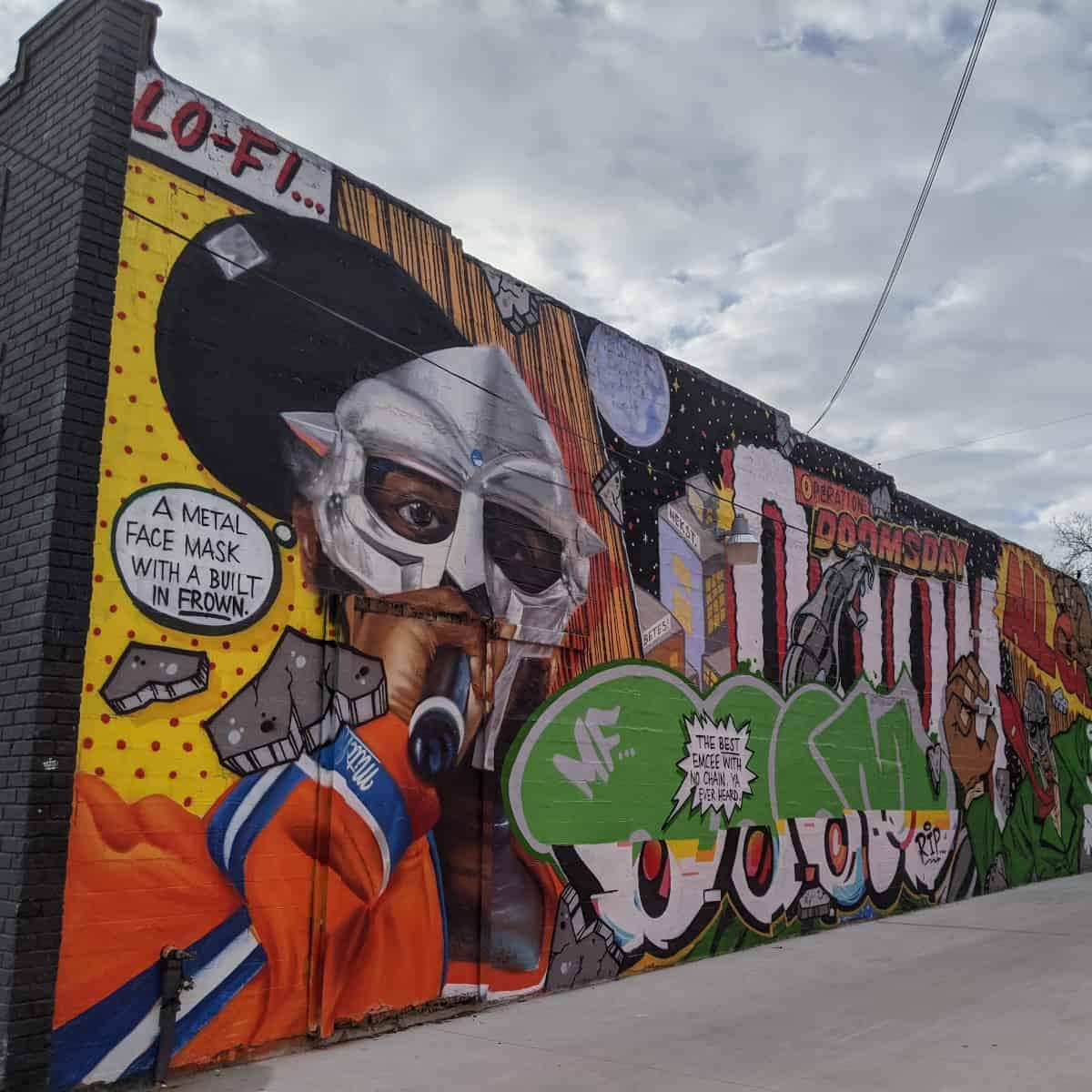 MF Doom Mural