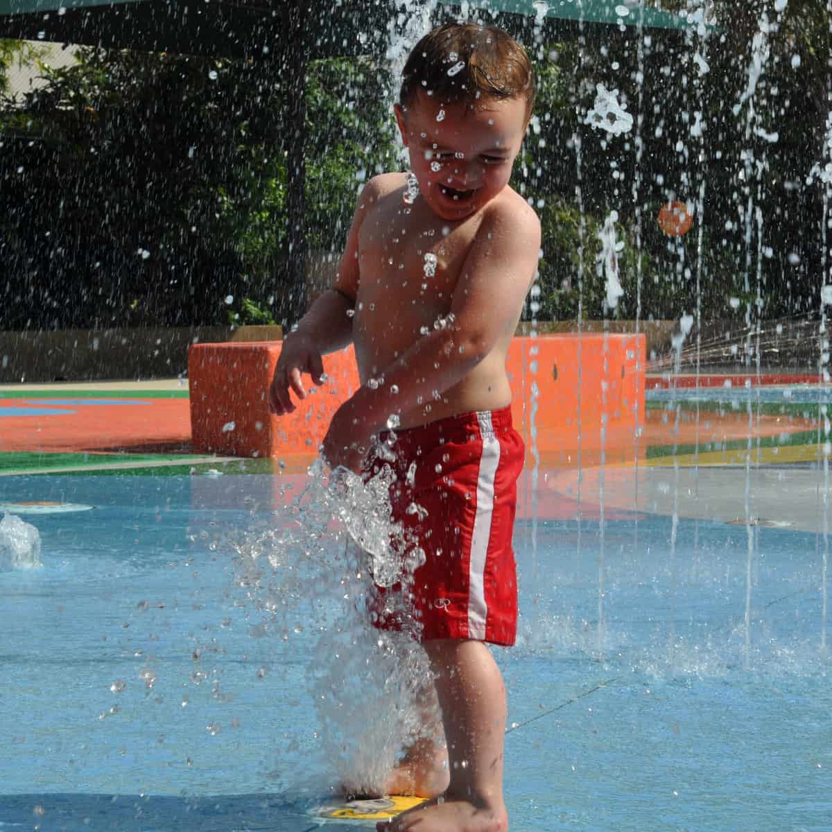 Playing in Splashpad