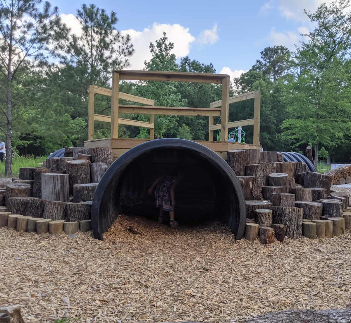 Houston Arboretum Nature Play Area Tunnel