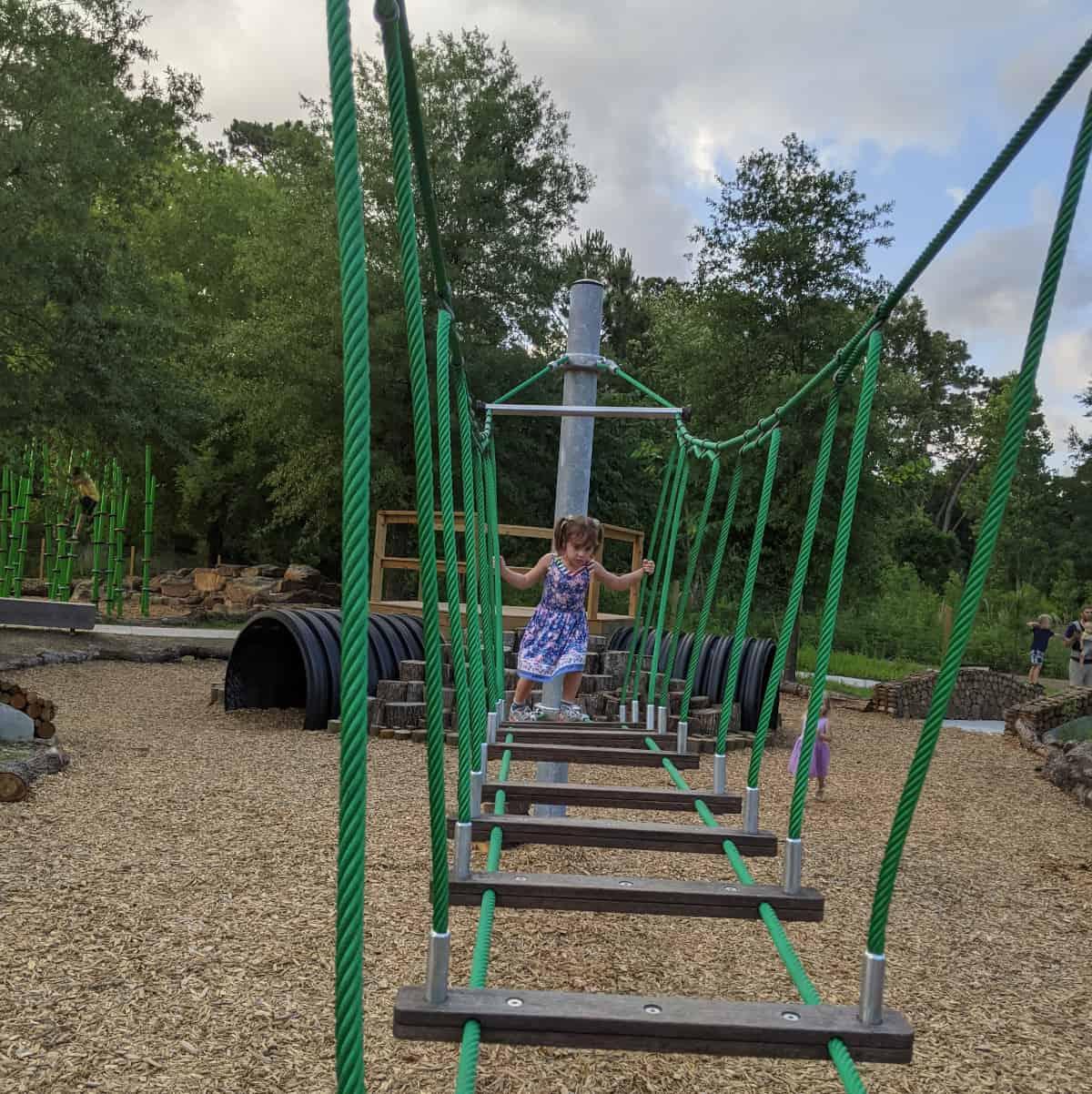 Houston Arboretum Nature Center Rope Bridge