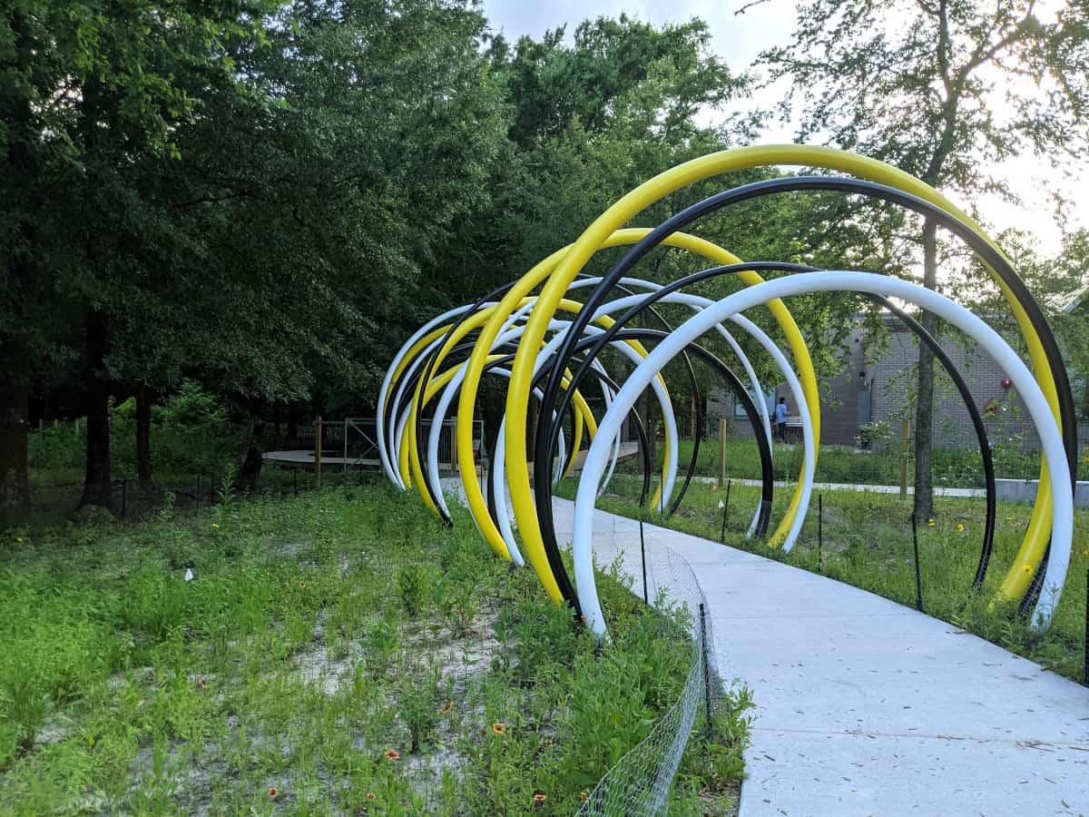 Houston Arboretum Nature Play Area Arches