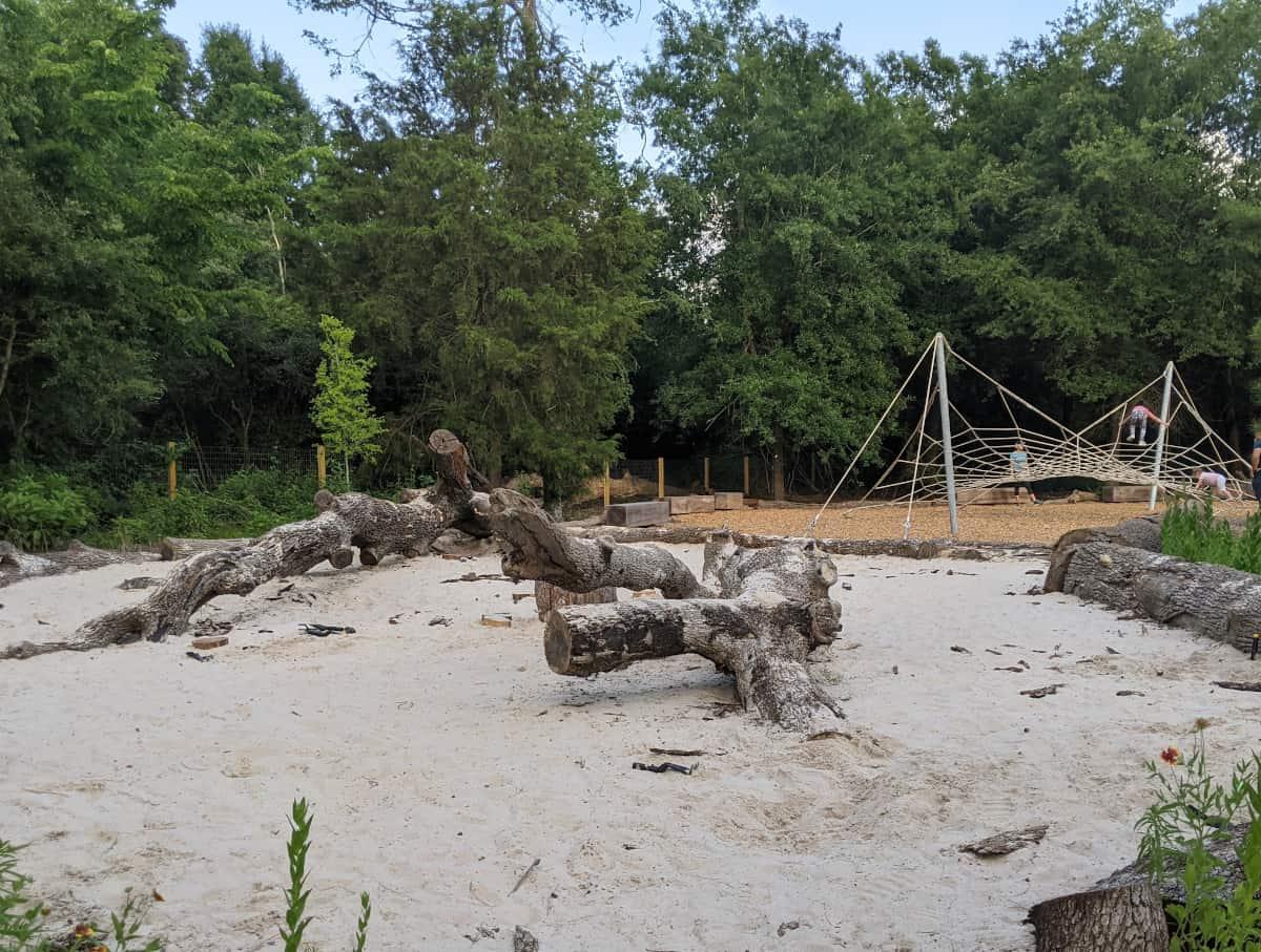 Houston Arboretum Nature Play Area Sandbox