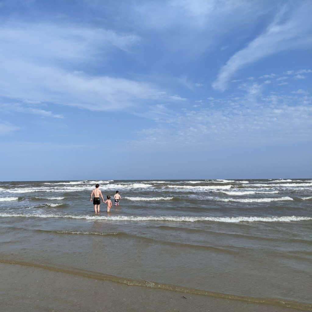Playing in Water at Surfside Beach
