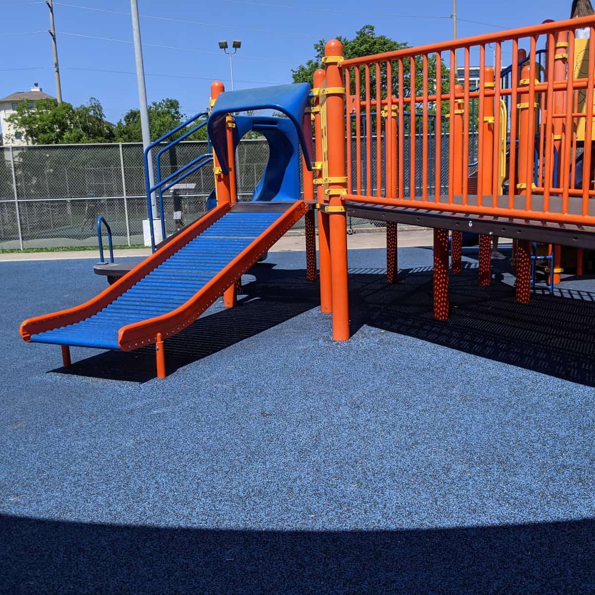 west gray rec center playground roller slide