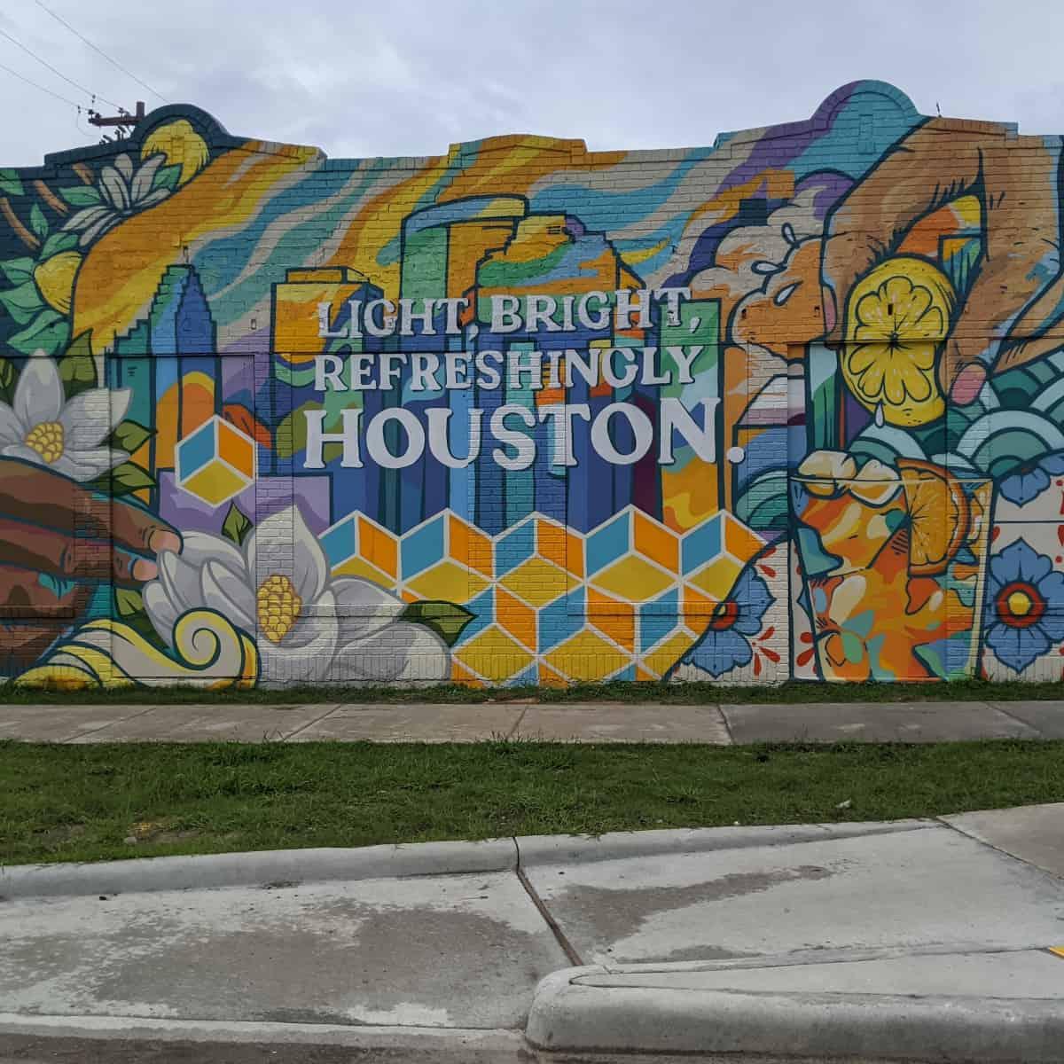 Light Bright Refreshingly Houston Mural
