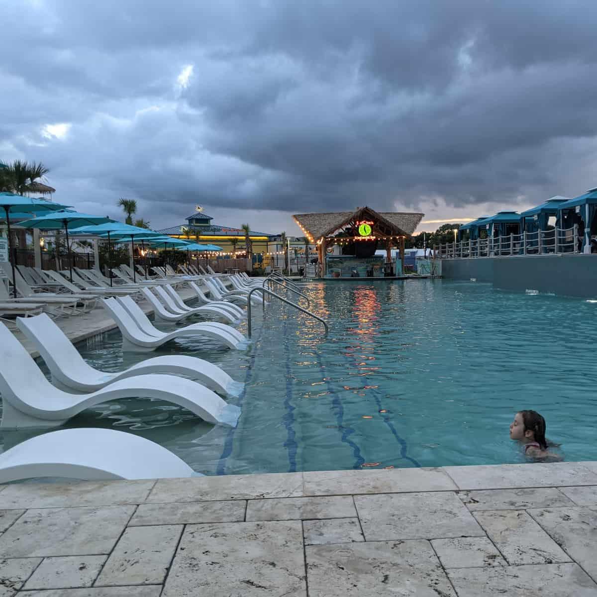Margaritaville Pool at Night