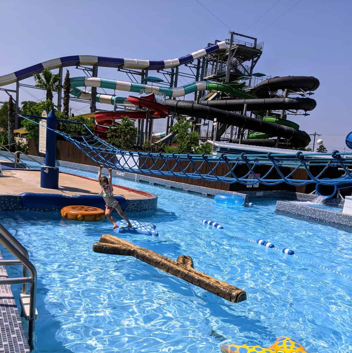 Splashway Waterpark Monkey Bars and Slides