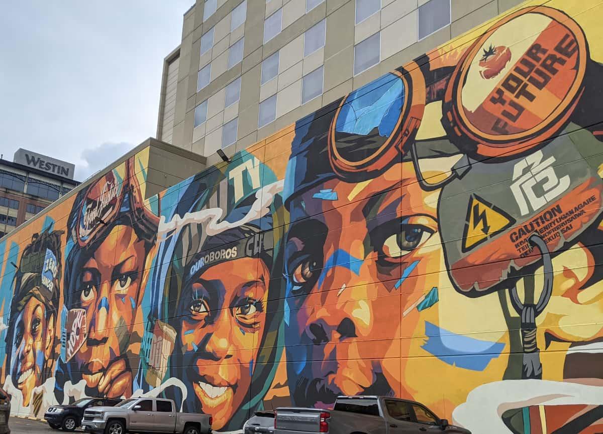 Zero Hunger Mural Downtown Houston