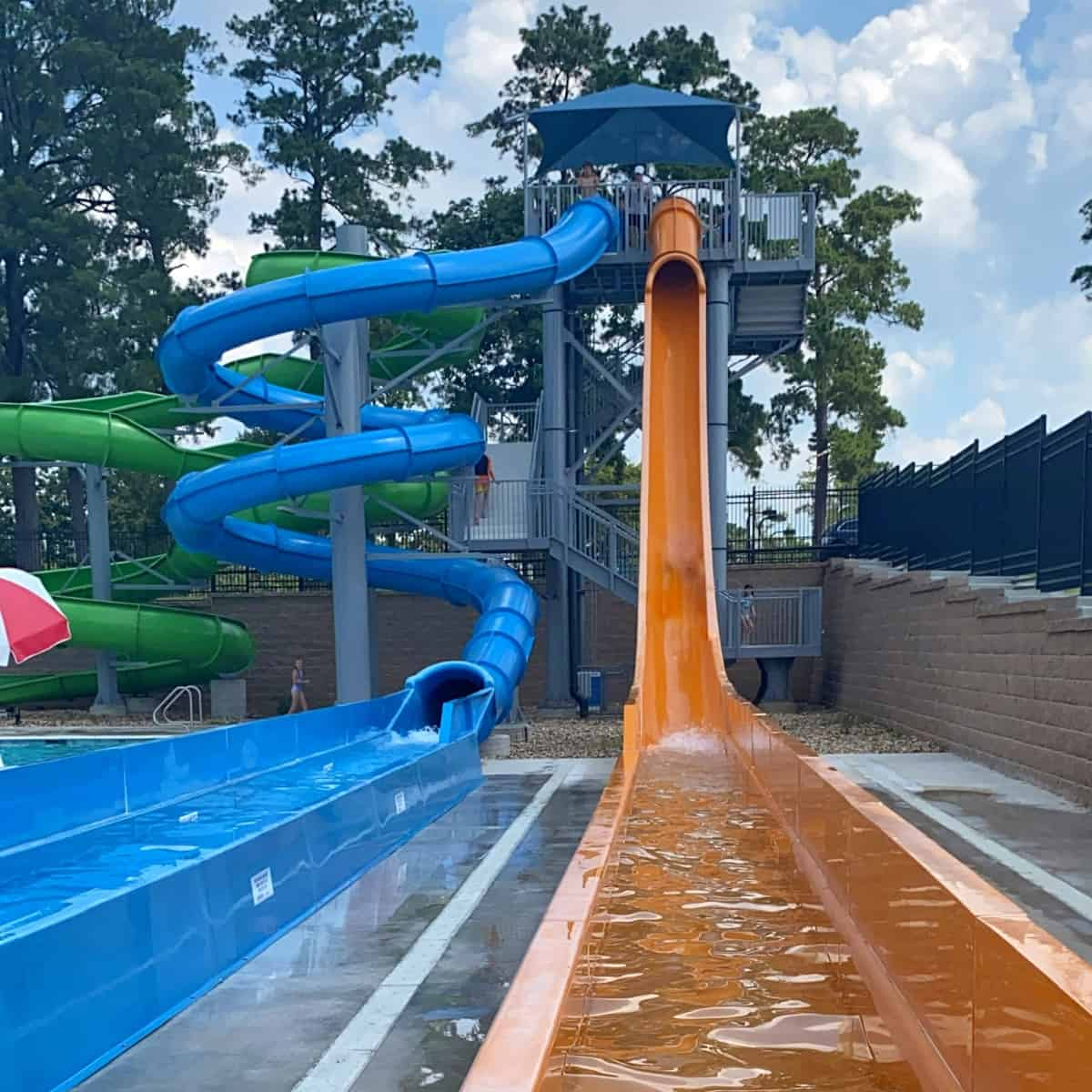 Conroe Waterpark Tall Water Slides