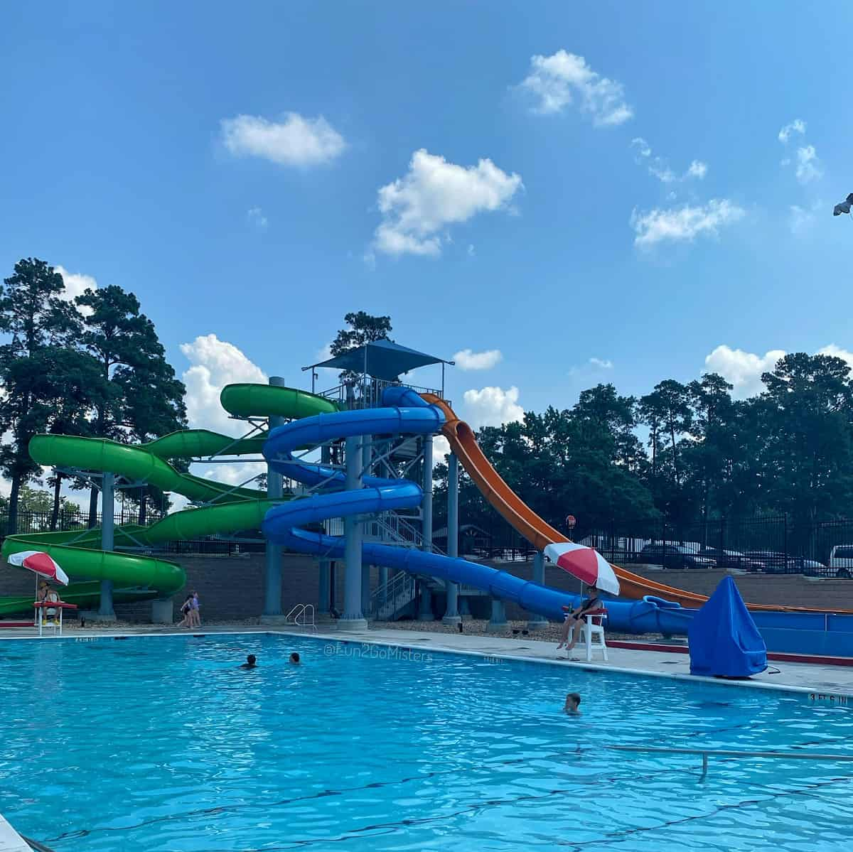 Conroe Water Park Pool and Slides