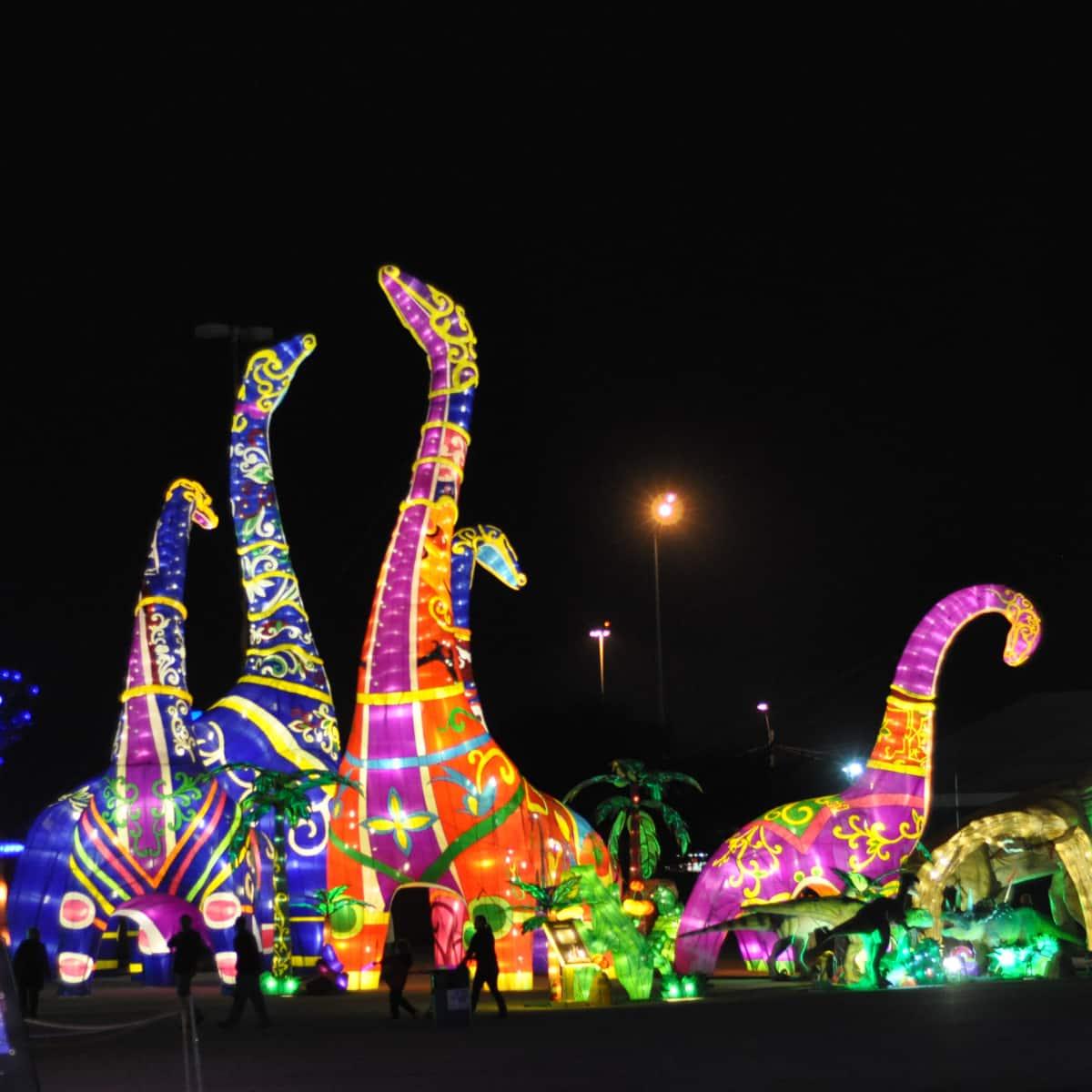 Dinosaurs at Magical Winter Lights