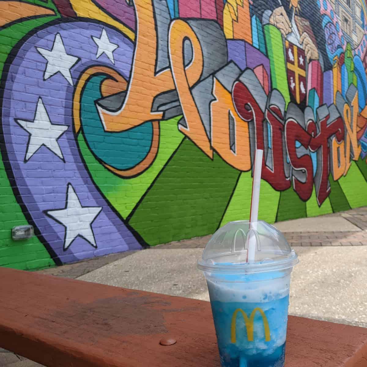 McDonalds Frozen Fanta at Houston Mural