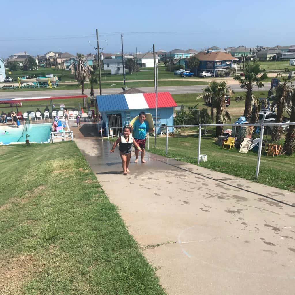 Fun Spot Water Slide Sidewalk