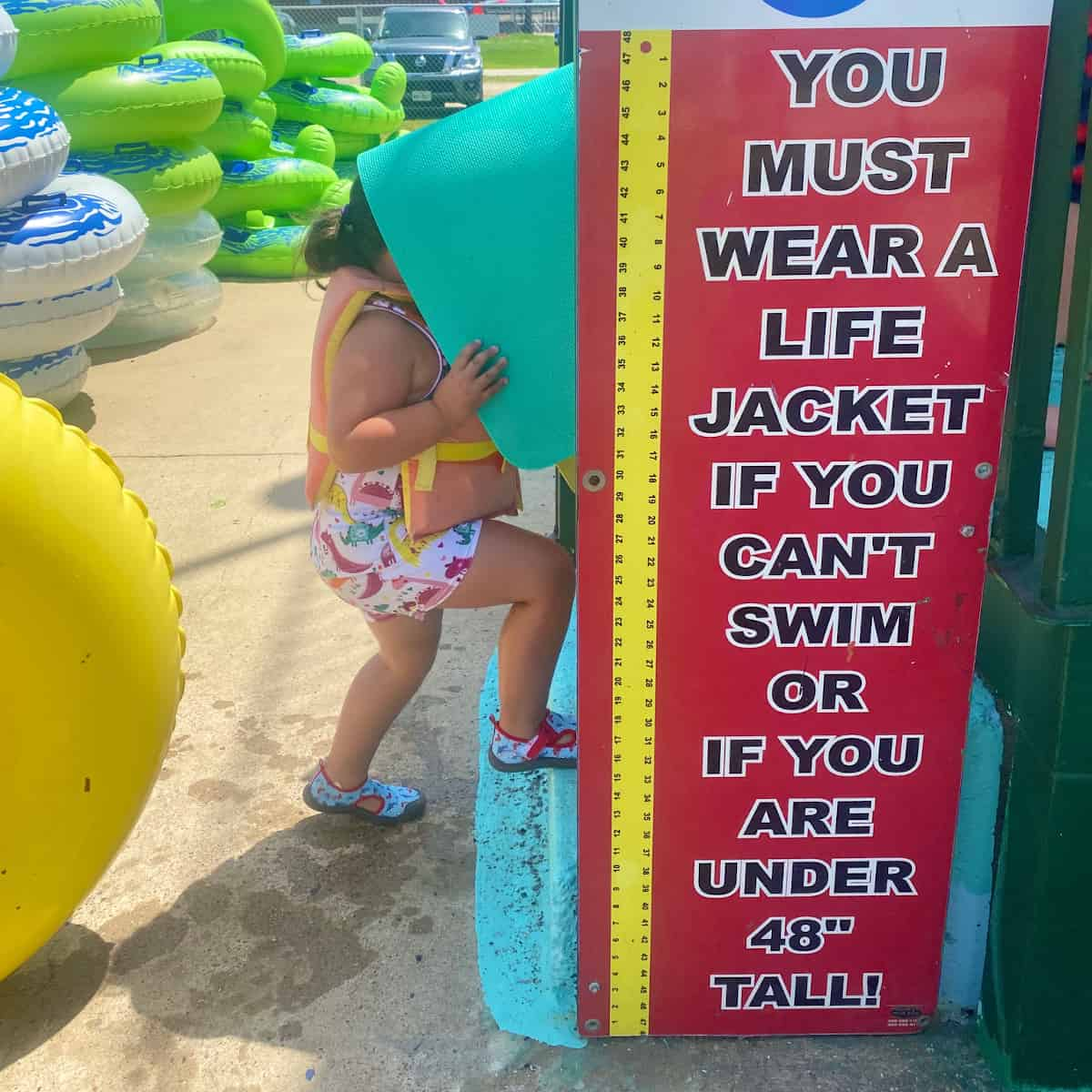Fun Town Water Park Life Vest Sign