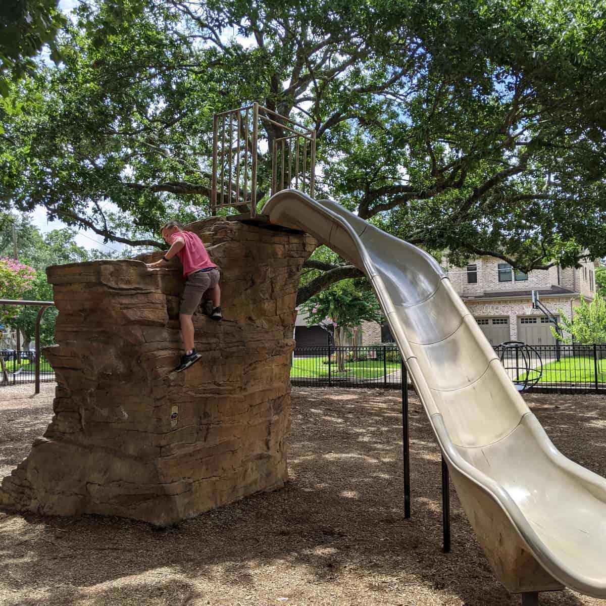 Judson Park Boulder Slide