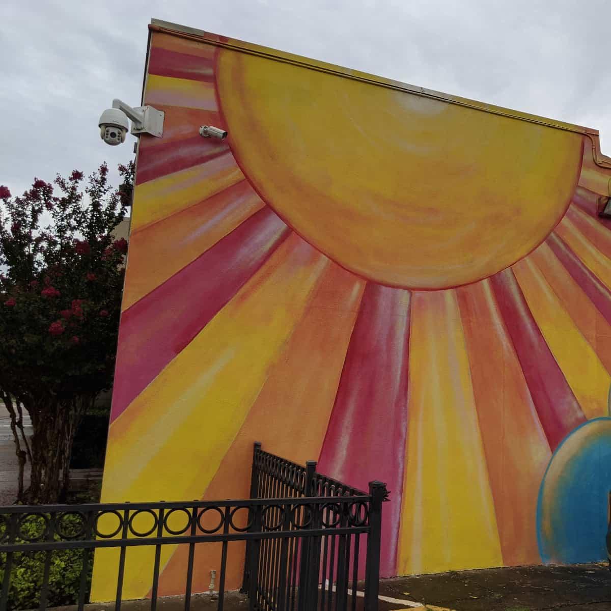 Vineyard Church Mural Sun