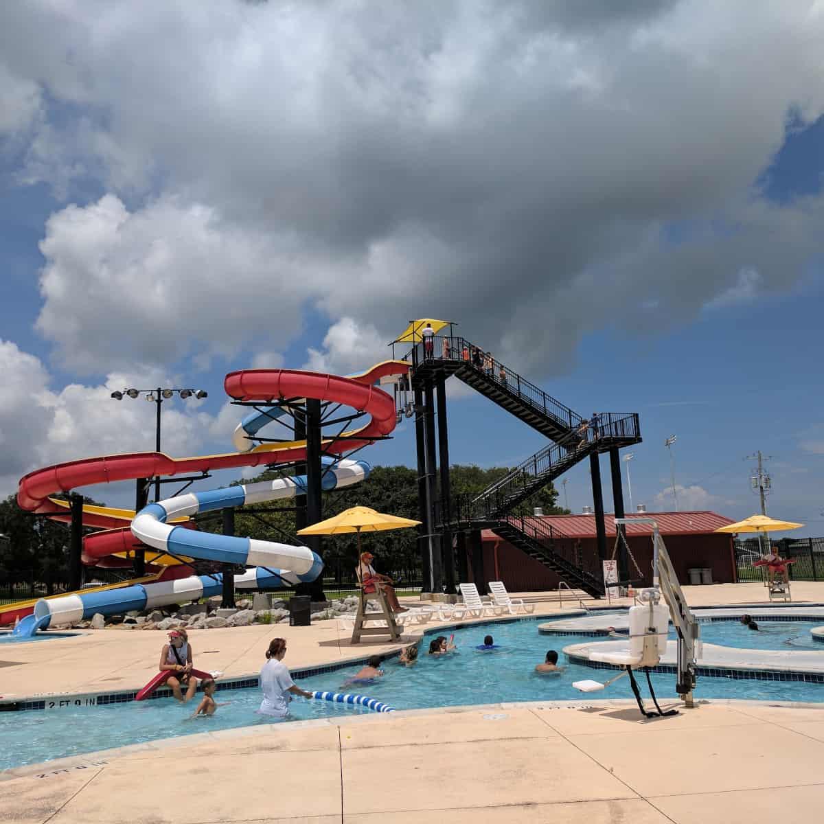 Nessler Pool Big Slides and Lazy River