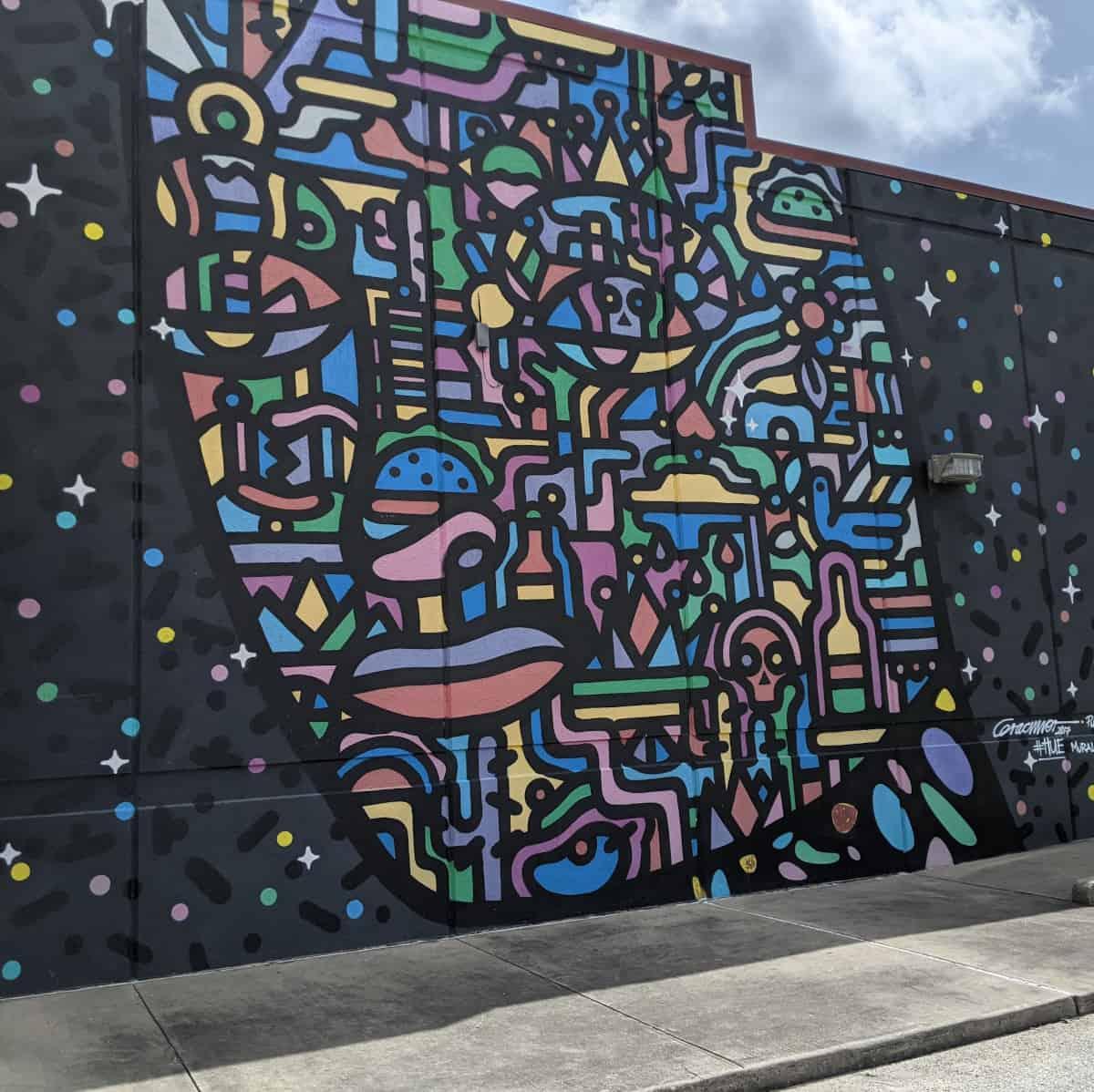 TBH Mural from Houston Mural Fest