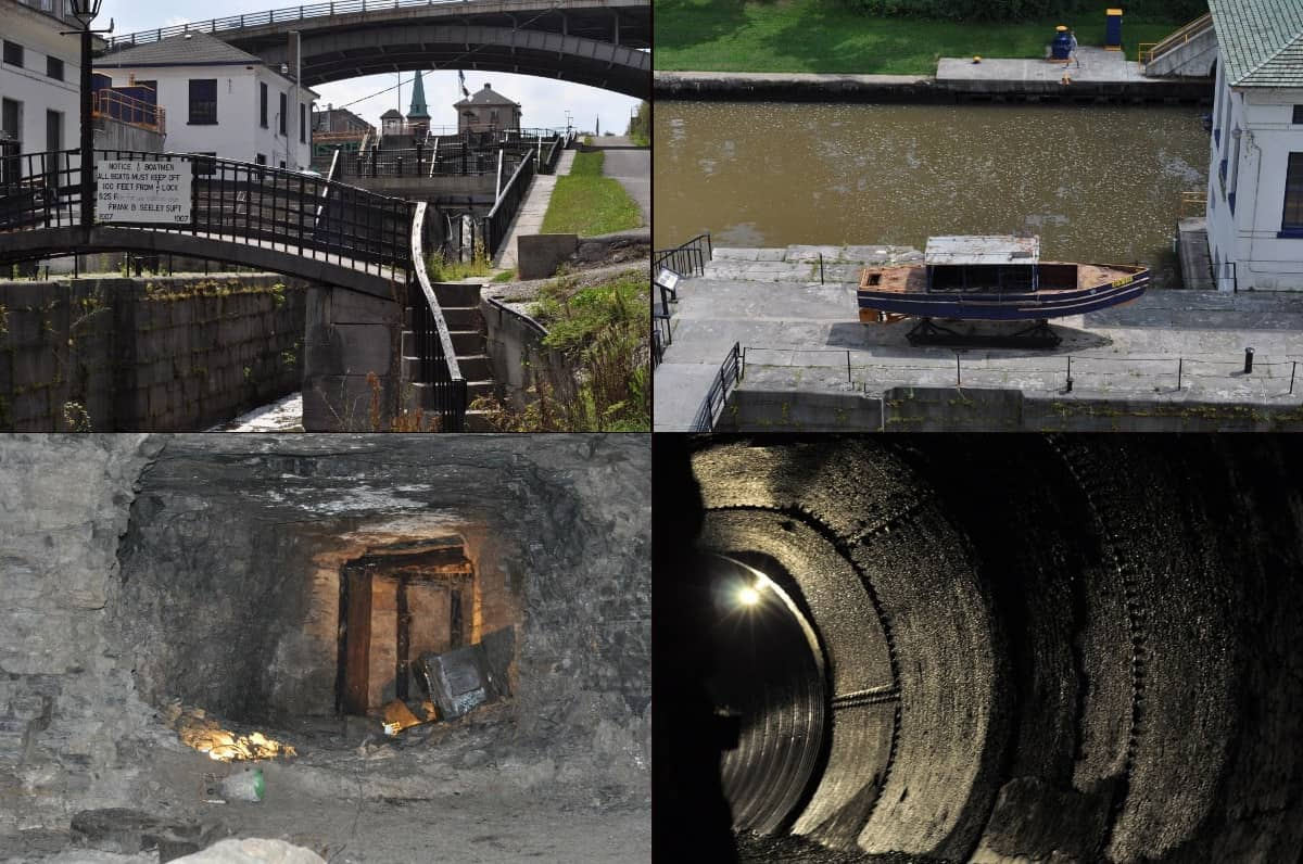 Collage of Pictures from Lockport and Erie Canal