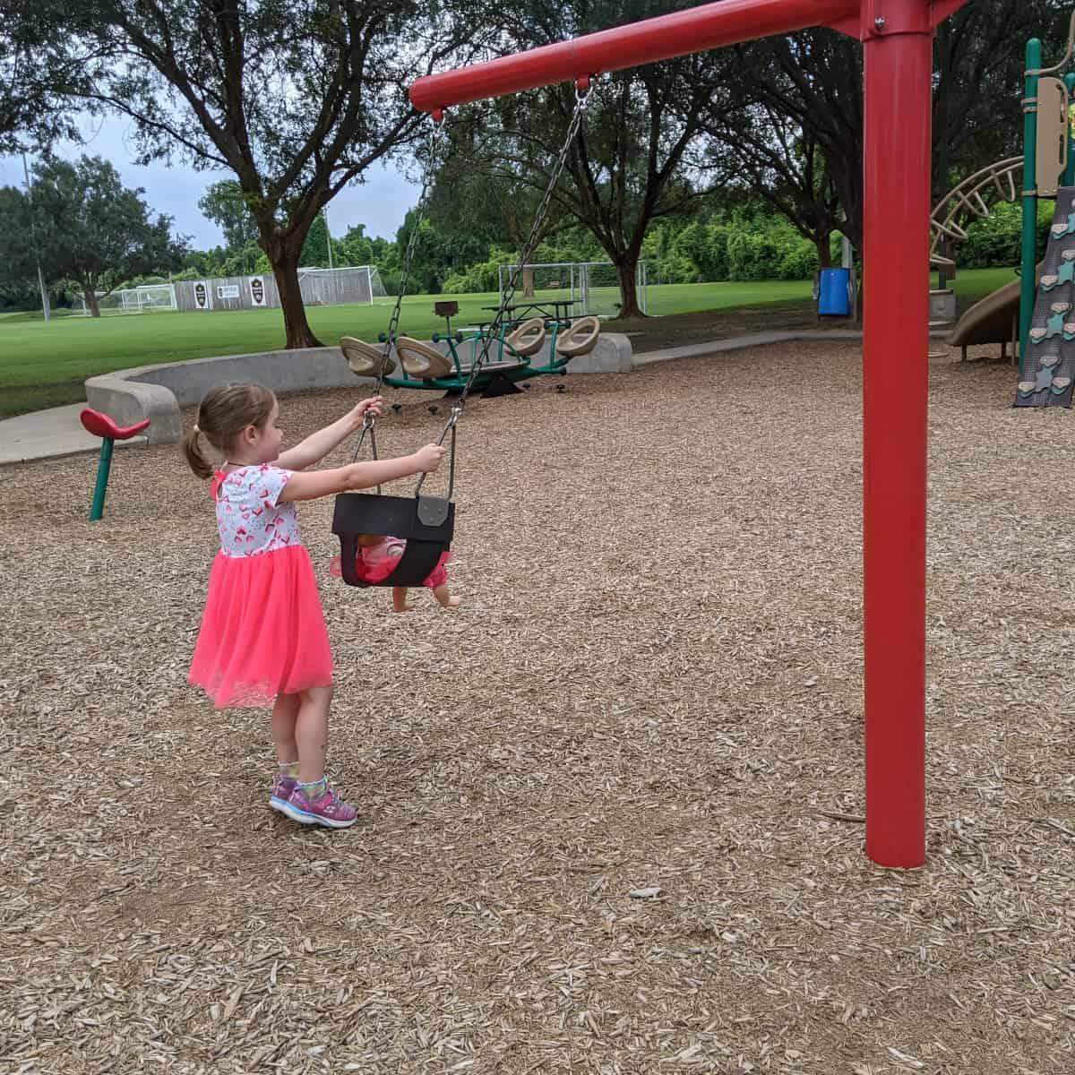 Bucket Swings at Lost Creek Park Sugar Land