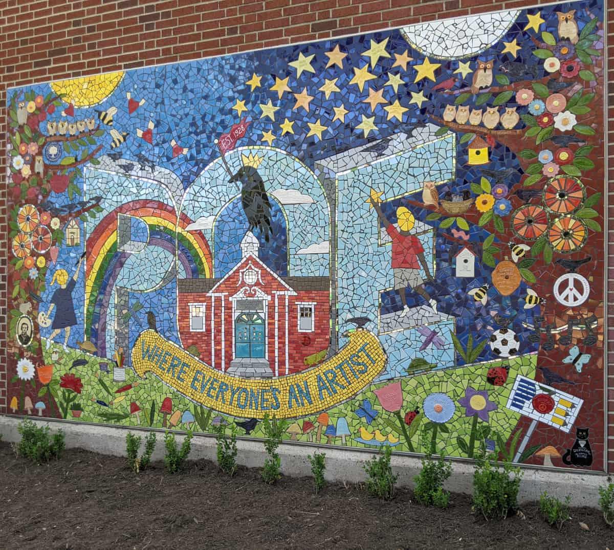 Poe Spark Park Mosaic Mural