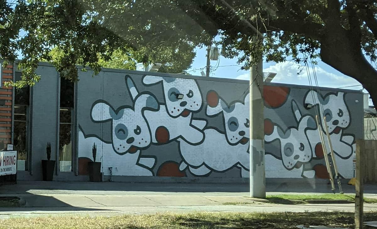 Dog Mural at Wagn World