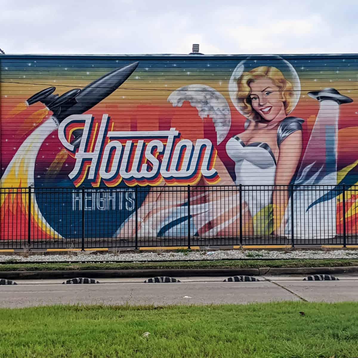 Houston Heights Hotel Mural