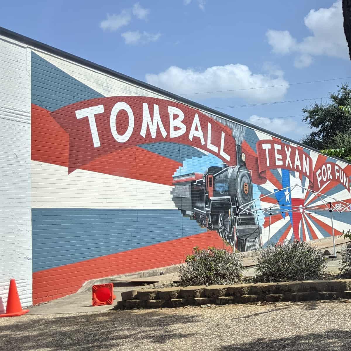 Tomball Train Mural