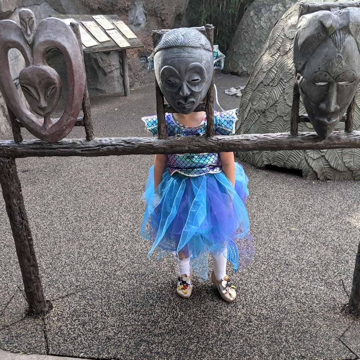Wearing costume at Houston Zoo Zoo Boo