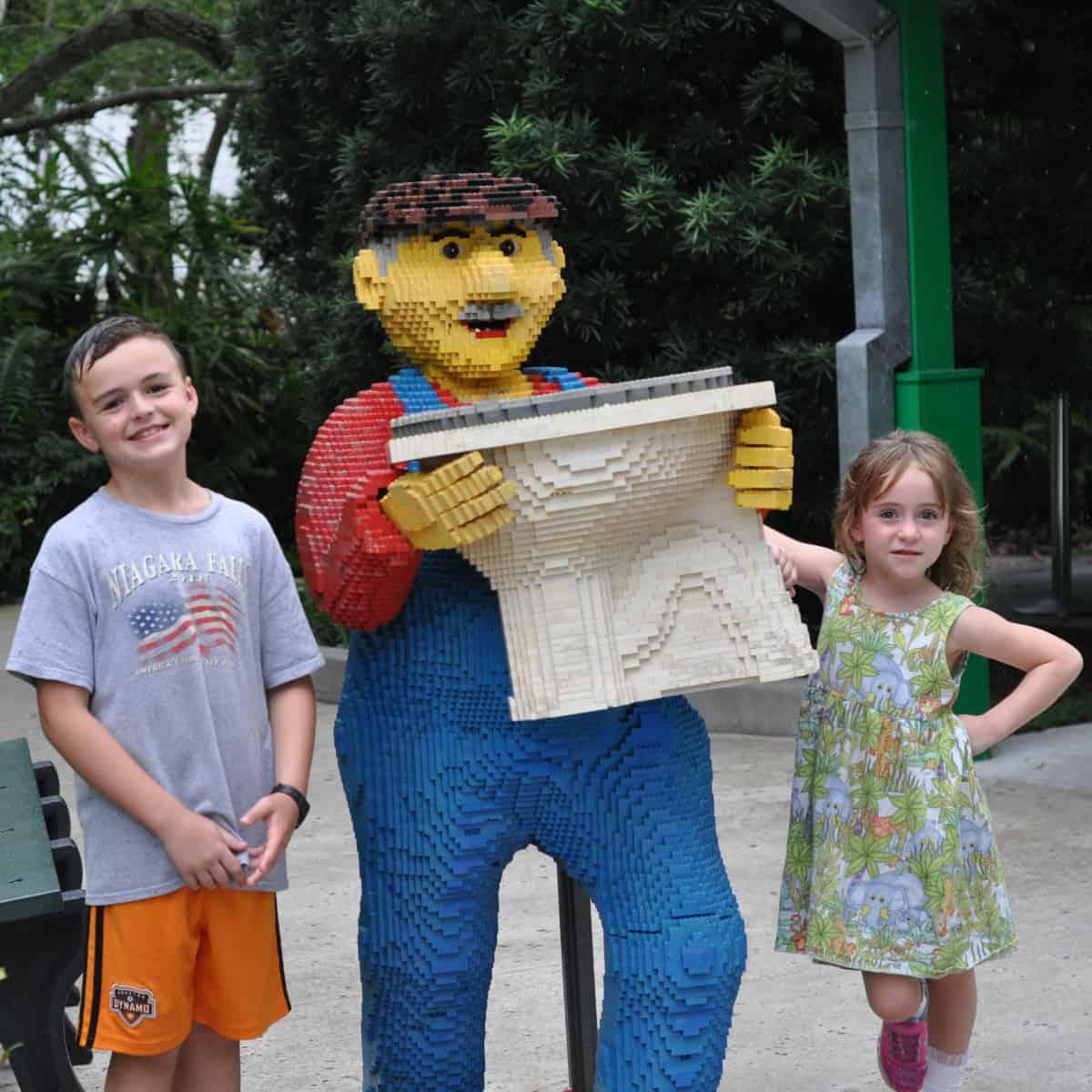 Legoland Florida Toilet Sculpture