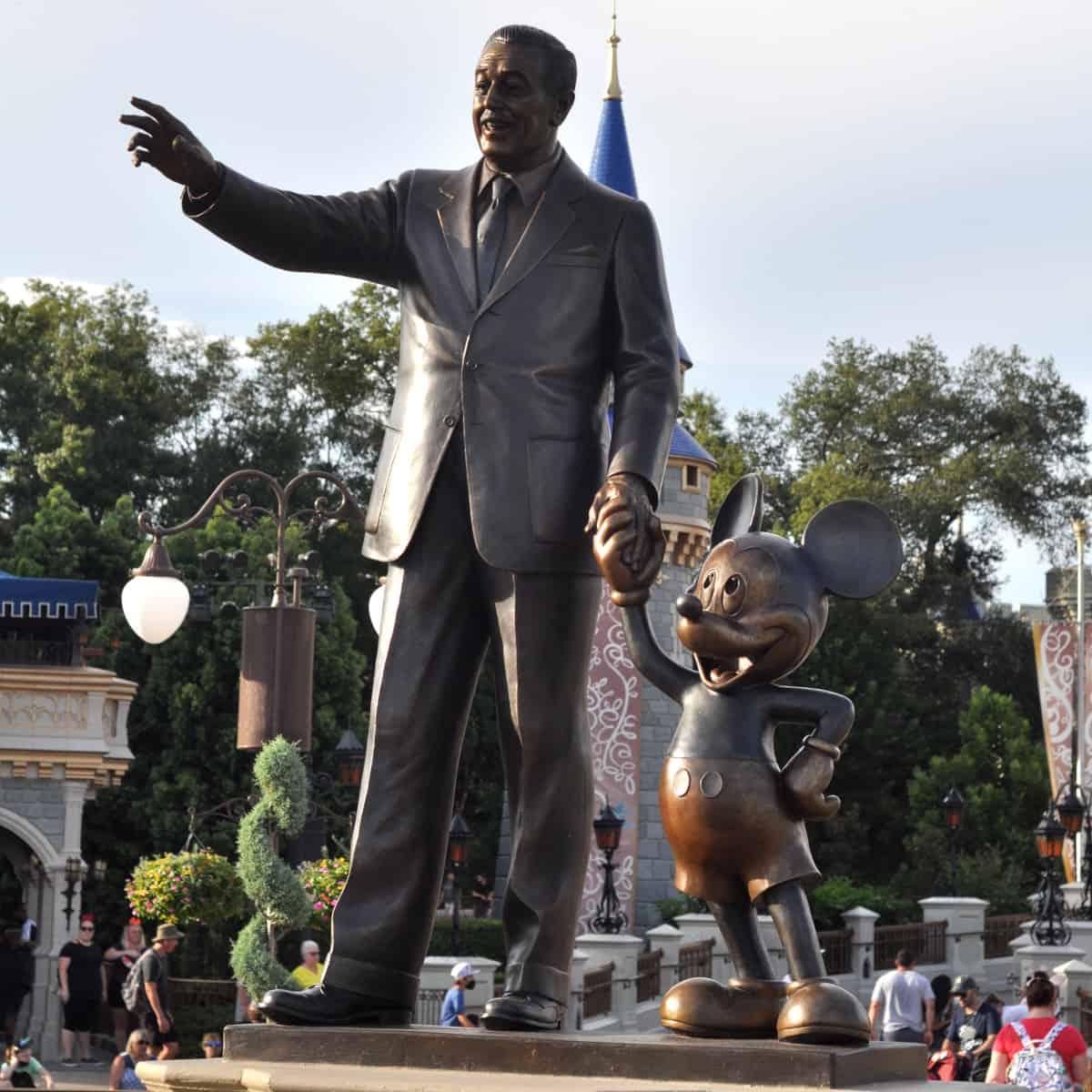 Walt Disney and Mickey Statue at Magic Kingdom