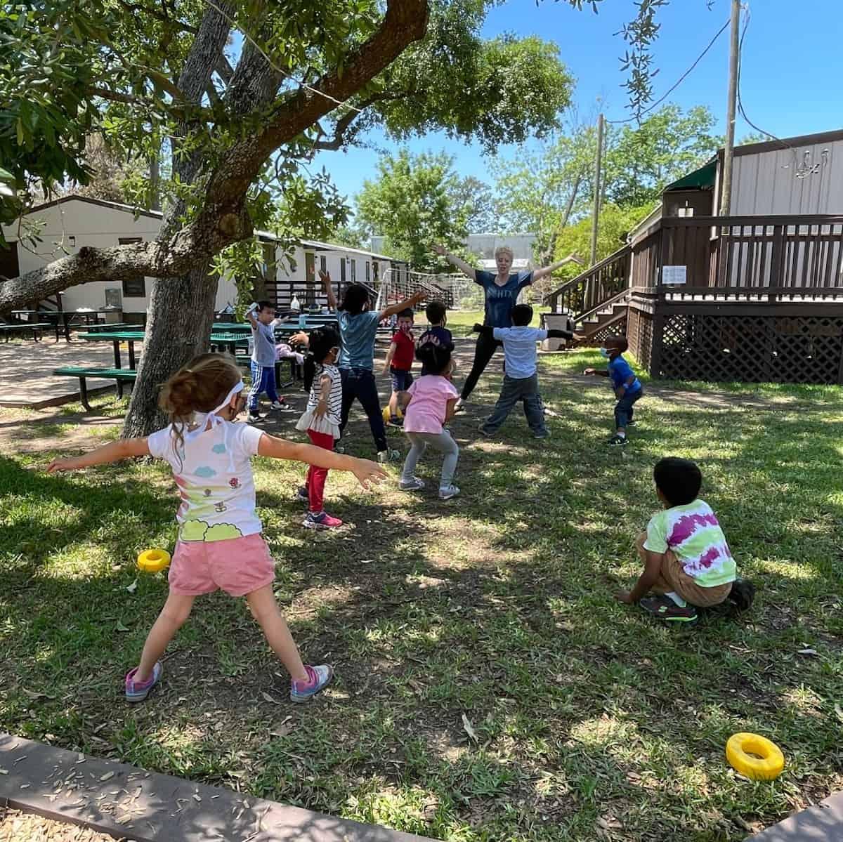 Kids Playing at Rainard School